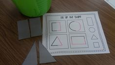 symmetry in Kindergarten!! Match two parts... fix up shape recording sheet!