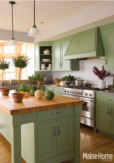 green kitchen  #kitchen