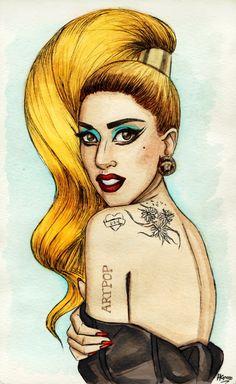 Хелен Грин (Helen Green) — студент-иллюстратор из Англии. Пишет причудливые и забавные портреты знаменитостей. Львиную долю рисункоа Хелен составляют рисунки Леди Гаги (Lady Gaga).