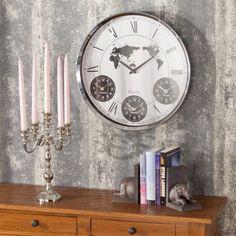 Zegar 4-TIMES śr. 48 cm, o48cm - Dekoria