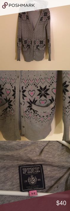VS PINK long cardigan This VS long sweater is super cute with leggings and boots!! Has been used several times and is in used condition but still very good! perfect for fall weather! I love this sweater and sad to see it go! PINK Victoria's Secret Sweaters Cardigans