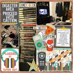 Digital Scrapbook Page Layout by Stacia using Not Quite a Mr Papers, Elements and Journal Cards from Etc by Danyale at The Lilypad #etcbydanyale #digitalscrapbooking #memorykeeping #teenager