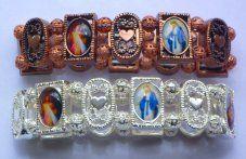 All Saints Metal Faith Bracelet Our Lady Of Lourdes, All Saints, Trust, Beaded Bracelets, Faith, Sterling Silver, Couples, Metal, Beautiful