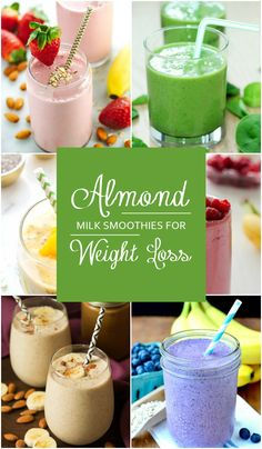 10 Almond Milk Smoothies for Weight Loss - Smoothie gesund und lecker! -Top 10 Almond Milk Smoothies for Weight Loss - Smoothie gesund und lecker! Weight Loss Drinks, Weight Loss Smoothies, Healthy Smoothies, Healthy Drinks, Healthy Eating, Eating Fast, Healthy Meals, Healthy Recipes, Green Smoothies