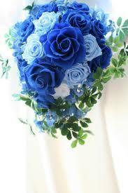 青い バラ プリザーブドフラワー ブーケ - Google 検索