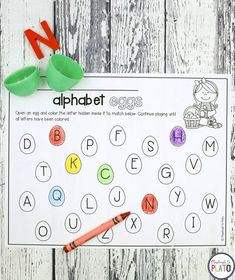 "Activity for ages 4 to 5. Nothing screams ""Easter"" quite like colorful eggs! This playful alphabet activity adds plenty of fun to letter practice. Grab your printable below and then hop over to snag our popular Easter STEM Challenges too! Getting Ready To prep the activity, I simply printed off the alphabet sheet (below) and …"