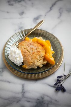 Lavender Peach Cobbler