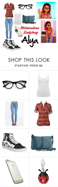 """""""Miraculous Ladybug Cosplay: Alya"""" by psychedpolkadot ❤ liked on Polyvore featuring ZeroUV, M&Co, ZooShoo, Vans and High Road"""