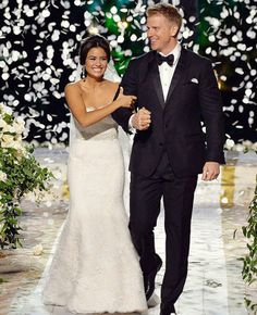 Sean and Catherine from #TheBachelorWedding
