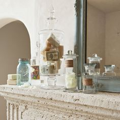 Showcase items from the parfumerie