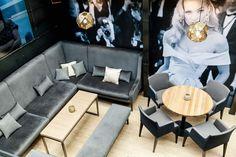 JazzClub#Kosice#pub#restaurant#InteriorDesign#InteriorDesignByOdette Jazz Club, Outdoor Furniture Sets, Outdoor Decor, Restaurant, Couch, Interior Design, Table, Home Decor, Nest Design