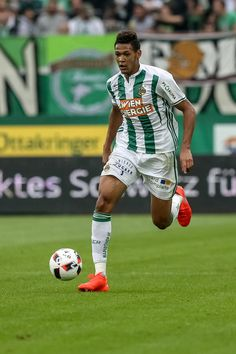 Joelinton of Rapid in action during an friendly match between SK Rapid Vienna and Chelsea F.C. at Allianz Stadion on July 16, 2016 in Vienna, Austria.