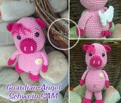 Guardian-Angel /  Sam  / Pig https://www.crazypatterns.net/de/items/16819/schutzengel-schwein-sam-guardian-angel
