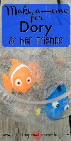 Celebrate Finding Dory with this super simple Finding Dory activity. This activity is perfect for a Finding Dory birthday party, for party favours, or just for fun! Create a home for Dory and her friends while engaging your kids in scientific discovery an Kids Learning Activities, Party Activities, Sensory Activities, Sensory Play, Preschool Activities, Educational Activities, Disney Activities, Summer Activities, Finding Dory Toys