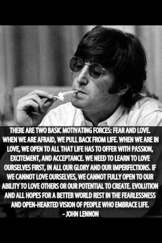 John Lennon on the forces of the world. From the Idealist