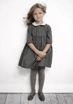 Geranium dress with Peter Pan collar and half sleeves. Love.