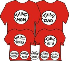 Thing Grandpa Adult Large T Shirt Thing Dad Brother Sister Thing 1 Your Text | eBay