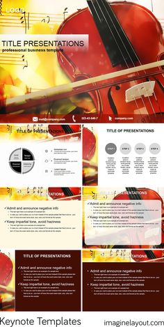 Download Violin for the study of music Keynote templates
