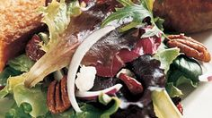 Mixed Greens with Pecans, Goat Cheese, and Dried Cranberries Recipe | Bon Appetit