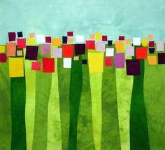 Colorful, abstract, modern art by Boise, Idaho artist Lisa Flowers Ross Quilt Inspiration, Creation Art, Quilt Modernen, Art Textile, Landscape Quilts, Contemporary Quilts, Art Moderne, Art Plastique, Fabric Art