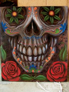 Day Of The Dead Skulls   Day Of The Dead Art Large Skull Photo 23