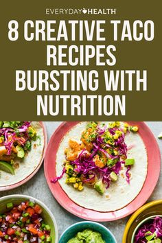 Whether for Cinco de Mayo or a weekly Taco Tuesday, tacos make for a fun and delicious family meal that with the right ingredients can also be nourishing. Healthy Food To Lose Weight, Healthy Food List, Heart Healthy Recipes, Healthy Meals For Kids, Healthy Foods, Nutrition And Dietetics, Diet And Nutrition, Lime Quinoa, Quick Vegetarian Meals