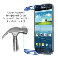 Clear Premium Tempered Glass Screen Protector Film for Samsung Galaxy S3    This tempered glass protector consists of  nanostructured coating layer, tempered glass layer, explosion-proof film and silicone coating layer. Its surface hardness is 9H, higher than 3H hardness of common screen protector.  Sharp tools like key or  knife cannot cause damage . #galaxys3 #temperedglass #galaxys3  #ScreenProtectorFilm  via witrigs.com