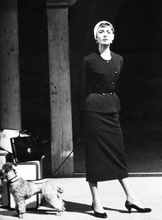Audrey Hepburn on the set of 'Sabrina'...in Givenchy