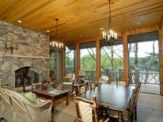 Screened+in+Porch+with+Fireplace | Charming Screened Porch With Fireplace - Plan 082S-0002 ...