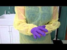 CNA Essential Skills - Donning and Removing PPE (Gown & Gloves) (4:30)