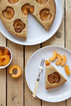 Gluten Free Almond and Buckwheat Meal Cake with Apricots