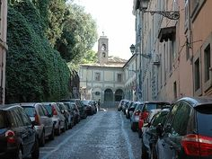 My tough uphill cycling street near the Gianicolo hill