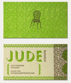 Love these letterpress business cards - unique color repinned by www.BlickeDeeler.de