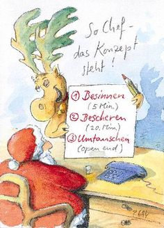 Peter Gaymann Postkarte Konzept steht