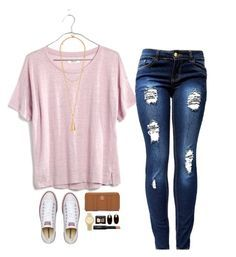 """""""Back to school outfit #10"""" by teenageprep on Polyvore featuring Madewell, Tory Burch, Converse, Kendra Scott, Michael Kors and NARS Cosmetics"""