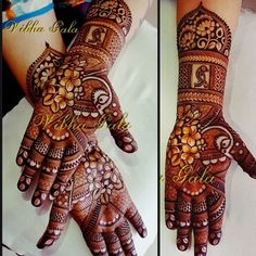 Latest Simple and Easy Mehndi Designs 2018 & 2019 Palm Mehndi Design, Peacock Mehndi Designs, Mehndi Designs Feet, Mehndi Designs Book, Mehndi Designs 2018, Modern Mehndi Designs, Mehndi Designs For Girls, Mehndi Design Pictures, Wedding Mehndi Designs