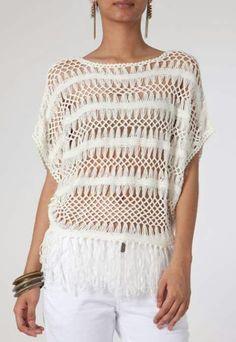 Jc Hairpin Lace Crochet, Hairpin Lace Patterns, Loom Crochet, Crochet Poncho Patterns, Crochet Tunic, Lace Knitting, Crochet Clothes, Crochet Stitches, Knit Crochet