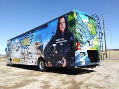 HS Sign Shop helps a big cause meet a big RV and wraps vehicle to promote helmet use and motorcycle safety. Safety Helmet, Two Decades, Car Wrap, Shop Signs, South Dakota, Retirement, Signage, Rv, Digital Prints