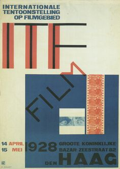 Piet Zwart - International Film Exhibition, Den Haag, 1928