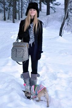 My last 2010 outfit: in the snow with Matilda! (by Chiara Ferragni) http://lookbook.nu/look/1455893-My-last-2-1-outfit-in-the-snow-with-Matilda