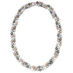 """156-766 - JOIA De Majorca 60"""" 10mm Round Man-Made Organic Pearl Endless Necklace"""