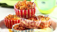 Muffins με «κρυμμένα» λαχανικά και ανθότυρο