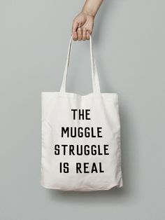 Harry Potter Tasche-der Muggle-Kampf ist Real, Hogwarts, Buch Beutel, Harry Potter, Harry Potter Geschenk