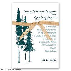 Forest Romance - Plum - Invitation (no ribbon)