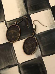 b0838310c14d hand made Louis Vuitton oval drop earrings antique finish Louis Vuitton  earrings by suchfungoods on