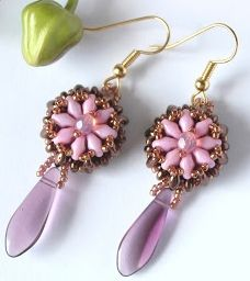 Free Earrings Beading Pattern / Tutorial featured in Bead-Patterns.com Newsletter!