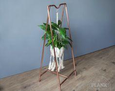 Kupfer-Rohr botanische Anlage Aufhänger in industrieller / städtisch / Vintage Stil. Hand Crafted Metallrahmen für dekorative Display.