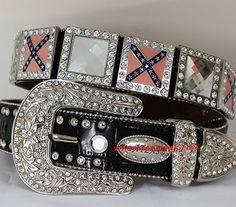 #Rhinestone #Belt With Prism Cut Stone Conchos  $60.00 http://www.blingtack.com/product/rhinestone-belt-with-prism-cut-stone-conchos/