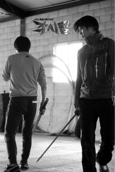 Joo Won practices sword fighting for Bridal Mask - Have not watched this, haven't even heard of it... but I loved this picture SO much I had to pin it and now I will be looking for the drama.