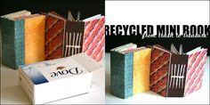 Tutorial~Recycled Mini Book/with binding out of a soap box:)